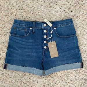 Madewell High-Rise Denim Shorts 28